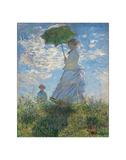 Woman with a Parasol, 1875 Reproduction procédé giclée par Claude Monet