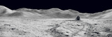Laser Reflectors, Rover Tracks and Footprints Left on the Moon's Surface. Fotografie-Druck