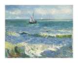 The Sea at Les Saintes-Maries-de-la-Mer, 1888 Impressão giclée por Vincent van Gogh