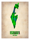 Israel Watercolor Map Arte por  NaxArt