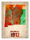 New Mexico Watercolor Map Posters av  NaxArt