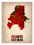 Atlanta Watercolor Map Plakater av  NaxArt