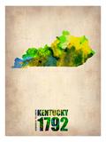 Kentucky Watercolor Map Posters av  NaxArt