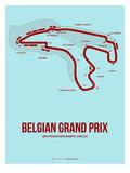Belgian Grand Prix 3 Poster von  NaxArt