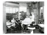 Lakewood Barber Shop, 1940 Giclee Print by Chapin Bowen