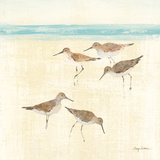 Sand Pipers Square II Affiches par Avery Tillmon