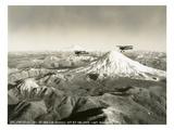 Mt. St. Helens - Mt. Rainier, 1937 Premium Giclée-tryk