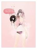 Donut Death Wish Giclée-Premiumdruck von  Mydeadpony