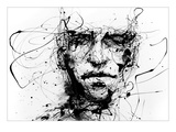 Lines Hold The Memories Kunstdruck von Agnes Cecile