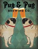 Pug and Pug Brewing Schilderij van Ryan Fowler