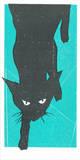Black Kat Serigraph by  Print Mafia