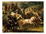 Games in Honour of Funeral of Patroclus - Book 23 of Iliad (Epic Poem by Homer) (Detail) Giclée-Druck von Antoine Charles Horace Vernet