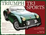 Triumph TR3 Placa de lata