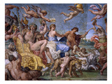 Triumph of Bacchus and Ariadne, from Loves of the Gods Frescos Giclée-tryk af Annibale Carracci