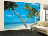 Yikiki Beach Huge Wall Mural Poster Print Mural de papel de parede