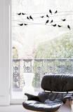 Uccellini del buon giorno (vetrofania) Adesivo per finestre di Alice Wilson