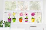 Amici felici (sticker murale) Adesivo per finestre