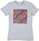 Women's: Jimi Hendrix - Jim Contrast Grid T-shirts