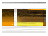 Abstract Brown Yellow Prints by  NaxArt