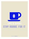 Coffee Poster Blue Giclée-Premiumdruck von  NaxArt