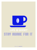 Coffee Poster Blue Poster di  NaxArt