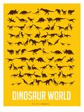 Dinosaur Poster Yellow Pôsters por  NaxArt