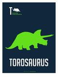 Green Dinosaur Stampa di  NaxArt