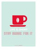 Coffee Poster Red Giclée-Premiumdruck von  NaxArt