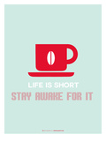Coffee Poster Red Stampa di  NaxArt