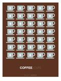 Brown Coffee Poster Giclée-Premiumdruck von  NaxArt