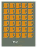 Yellow Beer Mugs Poster Pôsters por  NaxArt