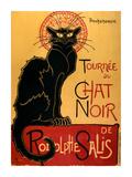 Tournée du Chat Noir, ca 1896 Schilderij van Théophile Alexandre Steinlen