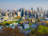 Canada, Quebec, Montreal, Downtown from Mount Royal Park or Parc Du Mont-Royal Fotografie-Druck von Alan Copson