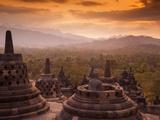 Indonesia, Java, Magelang, Borobudur Temple Fotoprint av Jane Sweeney