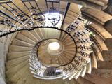 Spiral Staircase, Seaton Delaval Hall, Northumberland, England, UK Fotografie-Druck von Ivan Vdovin