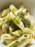 Penne with Pesto Fotografisk tryk