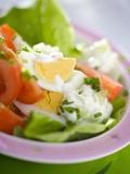 Lettuce, Egg, Tomato and Yoghurt Dressing Fotografie-Druck