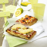 Two Different Focaccia Pizzas Photographic Print by Dave King