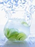 A Jug of Water with Limes Valokuvavedos tekijänä Axel Weiss