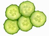 Five Slices of Cucumber Valokuvavedos tekijänä Steven Morris