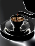Coffee Being Poured Photographic Print by Hermann Mock
