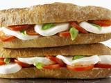 Two Mozzarella and Tomato Baguettes Valokuvavedos tekijänä Paul Williams
