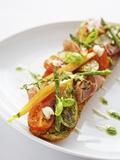 Baguette with Ham, Grilled Vegetables and Pesto Fotografisk tryk af Herbert Lehmann