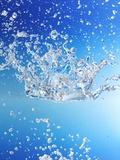 Blue Water with Bubbles Fotografie-Druck von Karl Newedel