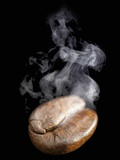 A Freshly Roasted Coffee Bean with Steam Photographic Print by Shawn Hempel