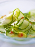 Cucumber Salad with a Chilli Dressing (Thailand) Valokuvavedos