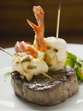 Surf and Turf (Seafood and Beef Steak) Photographic Print