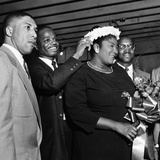 Mahalia Jackson - 1955 Fotoprint av William Lanier
