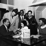 Langston Hughes, Adam C. Powell, Irene Fleming, Jean B. Hudson, Jobe Huntley - 1959 Reproduction photographique par G. Marshall Wilson