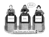 KING SOLOMON GOES ON JEOPARDY - New Yorker Cartoon Premium Giclee Print by J.B. Handelsman
